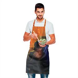 Фартук кулинарный Виктор Цой в ночи цвета 3D — фото 2