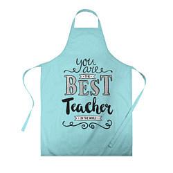 Фартук кулинарный Лучший учитель цвета 3D — фото 1