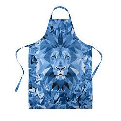 Фартук Сине-бело-голубой лев