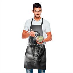 Фартук кулинарный Девушка с цепью цвета 3D — фото 2