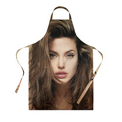 Фартук кулинарный Анжелина Джоли цвета 3D — фото 1