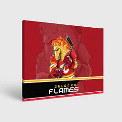 Холст прямоугольный Calgary Flames цвета 3D-принт — фото 1