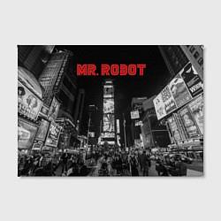 Холст прямоугольный Mr. Robot City цвета 3D — фото 2
