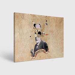 Холст прямоугольный Зигмунд Фрейд цвета 3D-принт — фото 1