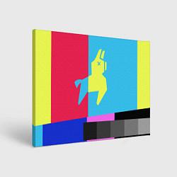 Холст прямоугольный Цветная Лама цвета 3D-принт — фото 1