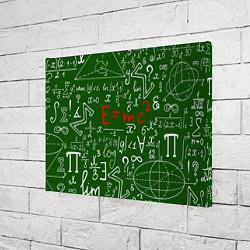 Холст прямоугольный E=mc2: Green Style цвета 3D — фото 2