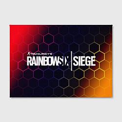 Холст прямоугольный RAINBOW SIX SIEGE РАДУГА 6 цвета 3D — фото 2