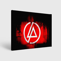 Холст прямоугольный Linkin Park: Red style цвета 3D — фото 1