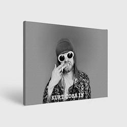 Холст прямоугольный Кобейн в очках цвета 3D — фото 1