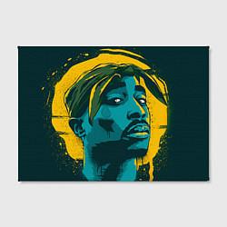 Холст прямоугольный 2Pac Shakur цвета 3D — фото 2