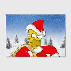 Холст прямоугольный Санта Гомер цвета 3D — фото 2