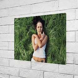 Холст прямоугольный Анджелина Джоли цвета 3D-принт — фото 2