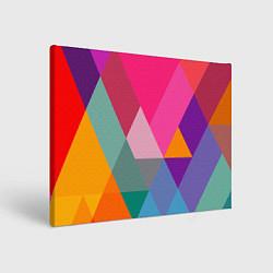 Холст прямоугольный Разноцветные полигоны цвета 3D — фото 1