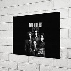 Холст прямоугольный Fall out boy band цвета 3D-принт — фото 2