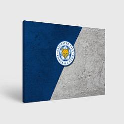 Холст прямоугольный Leicester City FC цвета 3D-принт — фото 1