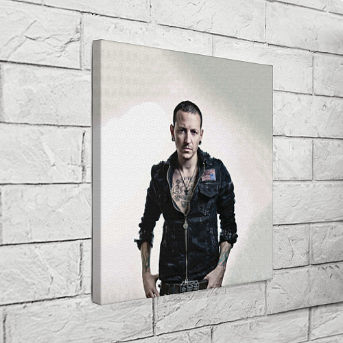 Картина квадратная Честер Беннингтон / 3D – фото 3