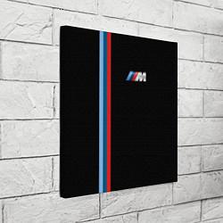 Холст квадратный BMW M: Black Collection цвета 3D — фото 2