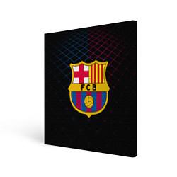 Холст квадратный FC Barcelona Lines цвета 3D-принт — фото 1