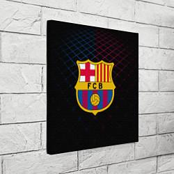 Холст квадратный FC Barcelona Lines цвета 3D-принт — фото 2