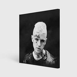Холст квадратный Lil Peep: Black Edition цвета 3D — фото 1