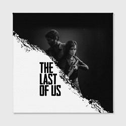Холст квадратный The Last of Us: White & Black цвета 3D — фото 2