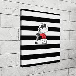 Холст квадратный Vans Doggy цвета 3D-принт — фото 2