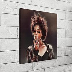 Холст квадратный Марла с сигаретой цвета 3D — фото 2