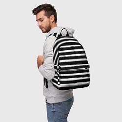 Рюкзак Тельняшка зебра цвета 3D-принт — фото 2
