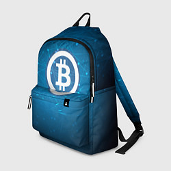 Рюкзак Bitcoin Blue цвета 3D — фото 1