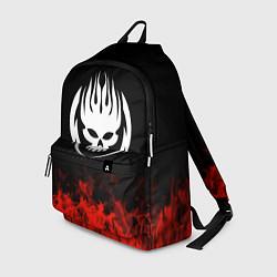 Рюкзак The Offspring: Red Flame цвета 3D-принт — фото 1
