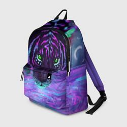 Рюкзак Неоновый тигр цвета 3D-принт — фото 1