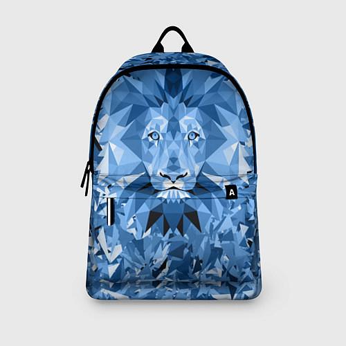 Рюкзак Сине-бело-голубой лев / 3D – фото 3