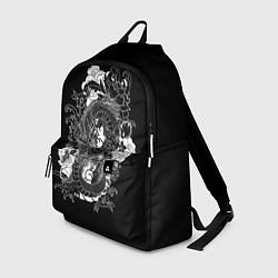 Рюкзак Японский дракон цвета 3D-принт — фото 1