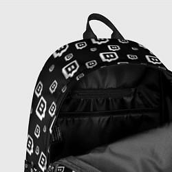 Рюкзак Twitch: Black Pattern цвета 3D-принт — фото 2