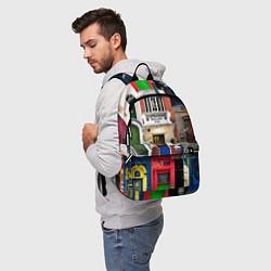 Рюкзак London doors цифровой коллаж цвета 3D-принт — фото 2