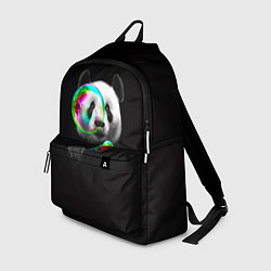 Рюкзак Панда и мыльный пузырь цвета 3D-принт — фото 1