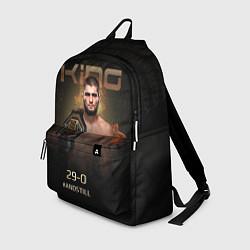 Городской рюкзак с принтом Хабиб Нурмагомедов - King, цвет: 3D, артикул: 10275857505601 — фото 1
