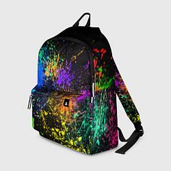 Рюкзак Брызги красок цвета 3D — фото 1