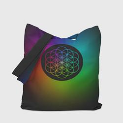 Сумка-шопер Coldplay Colour цвета 3D-принт — фото 1