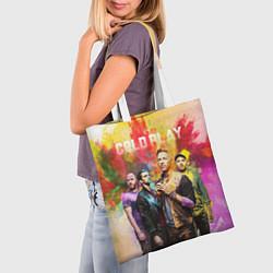 Сумка-шопер Coldplay цвета 3D-принт — фото 2