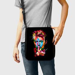 Сумка на плечо Дэвид Боуи цвета 3D-принт — фото 2