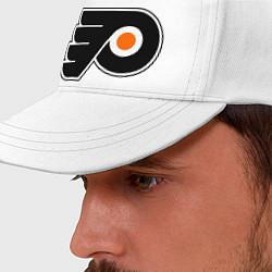 Бейсболка Philadelphia Flyers цвета белый — фото 2