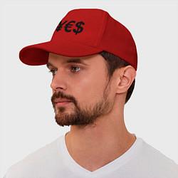 Бейсболка YE$ цвета красный — фото 1