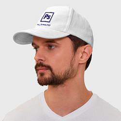 Бейсболка Photoshop цвета белый — фото 1