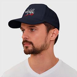 Бейсболка WWE Fight цвета тёмно-синий — фото 1