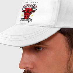 Бейсболка Chicago Bulls est. 1966 цвета белый — фото 2