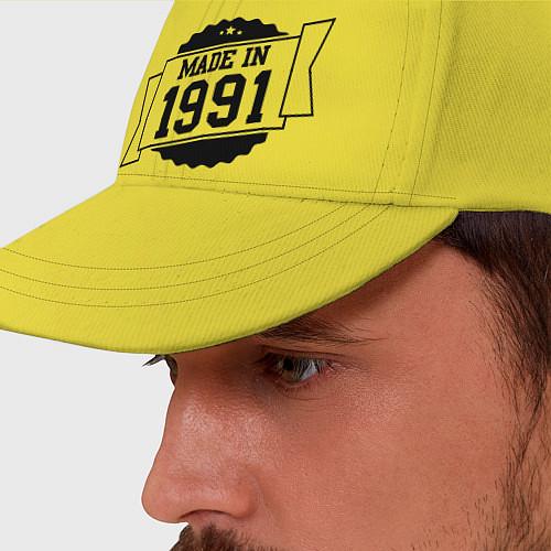 Бейсболка Made in 1991 / Желтый – фото 2
