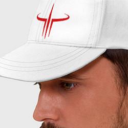 Бейсболка Quake logo цвета белый — фото 2
