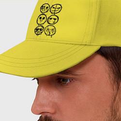 Бейсболка HU Masks цвета желтый — фото 2