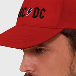 Бейсболка AC/DC цвета красный — фото 2